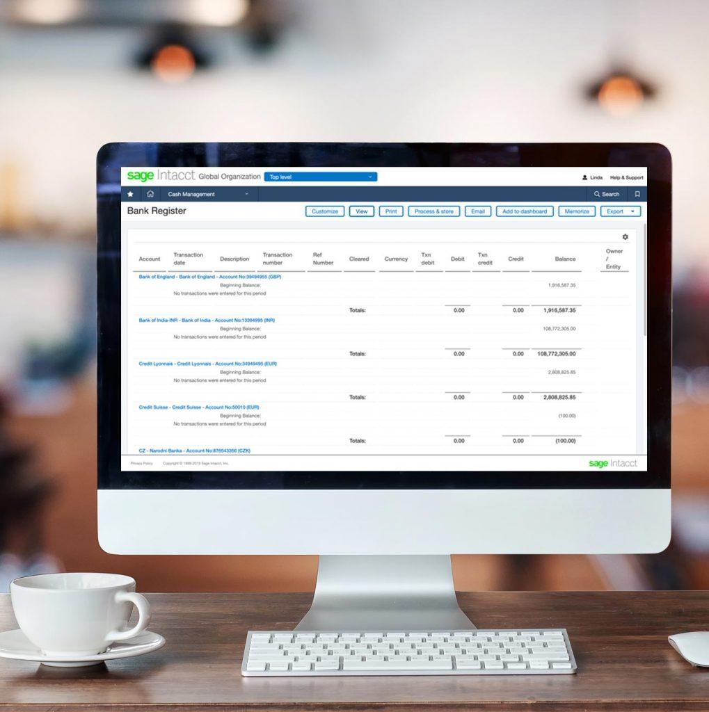 Sage Intacct Cash Management Multi-Location